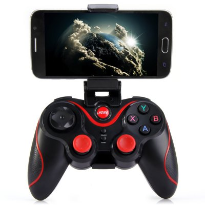 T3 + Wireless Bluetooth 3.0 Gamepad Gaming Controller para Smartphone Android - PRETO