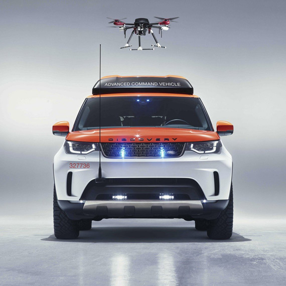 Drone Land Rover Project Hero