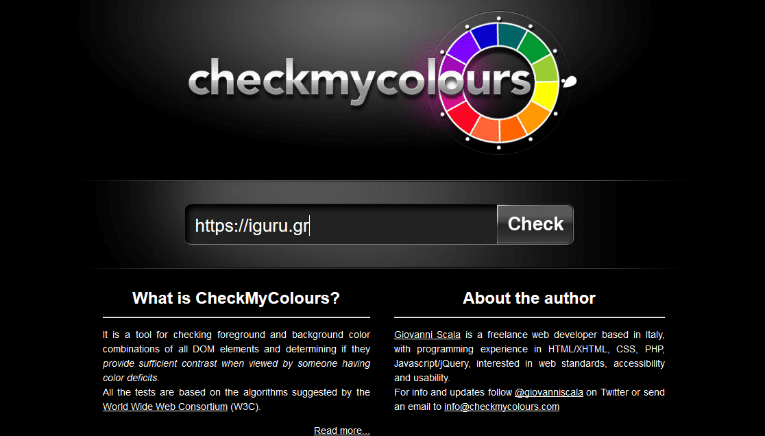 checkmycolours contrast