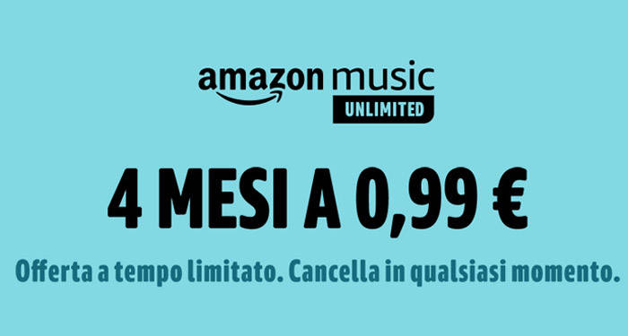 Amazon Music Unlimited 4 meses grátis