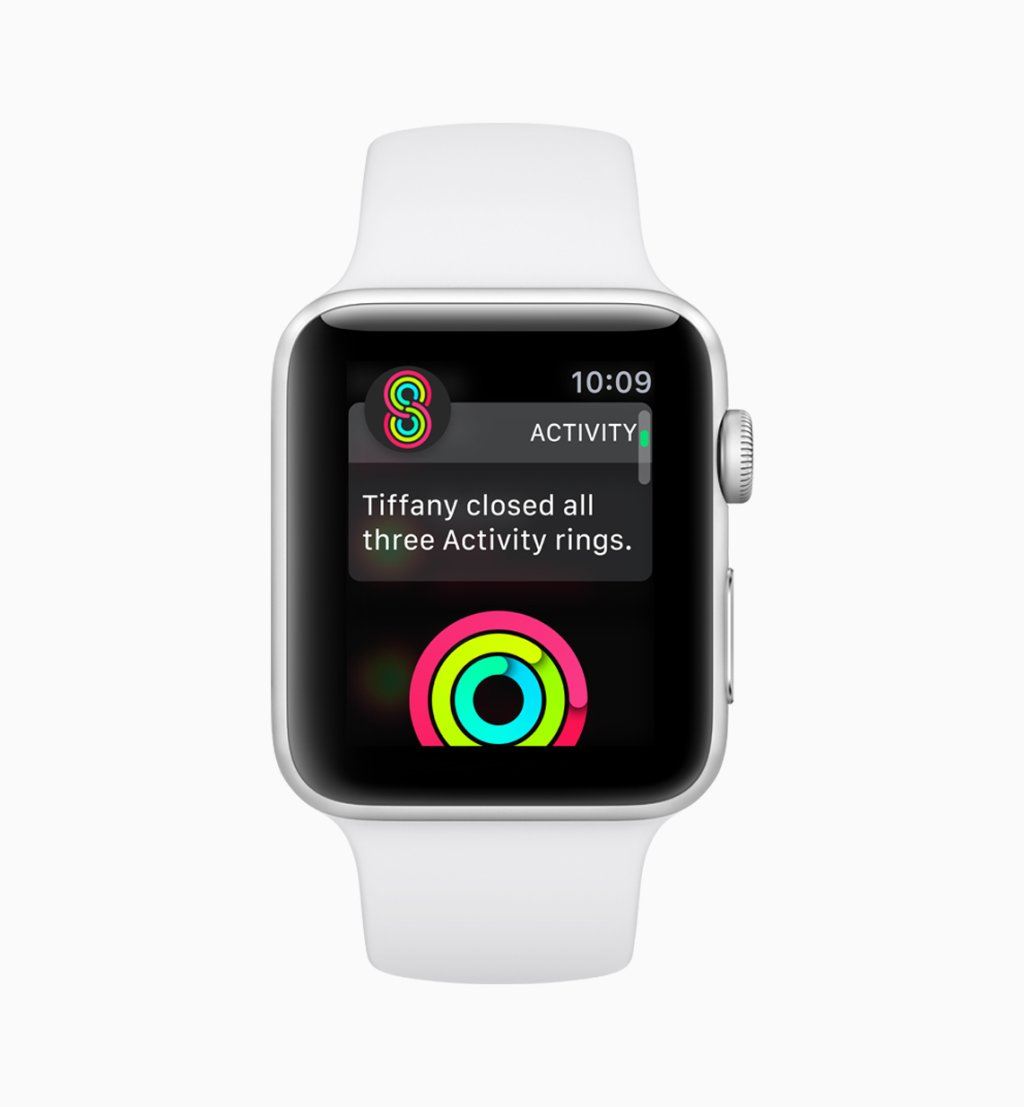 Tela do Apple watchOS 5 Competitions 06042018