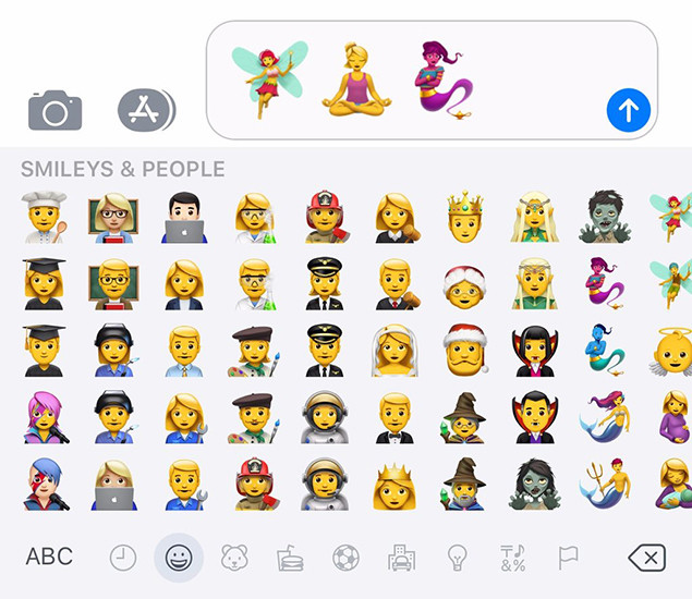 Lista completa Todas as 190 novas Apple Emoji iOS 111 Outono de 2017